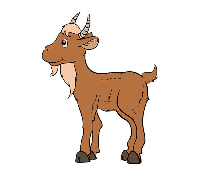 How to a cartoon. Clipart goat easy draw