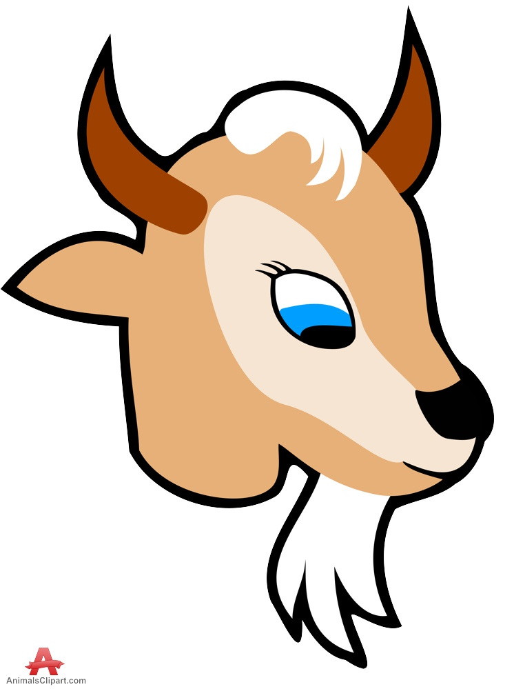 Goat clipart head. Free face cliparts download