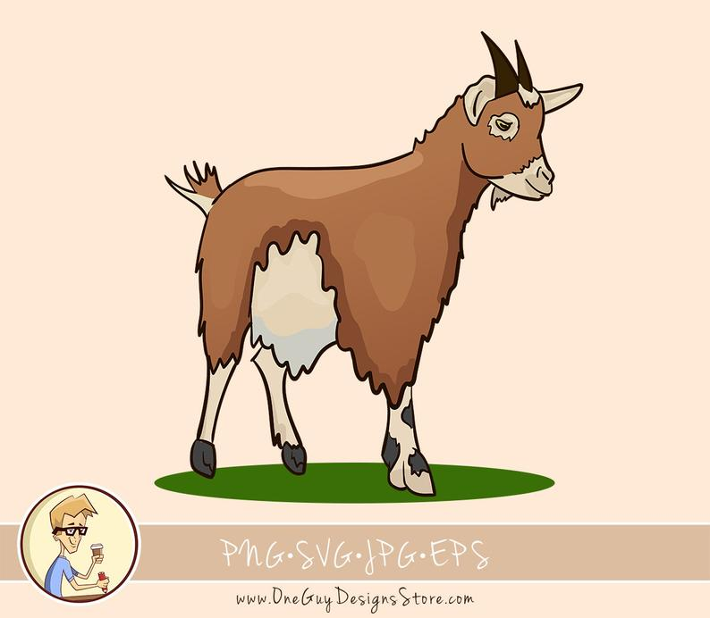 Cute svg png vector. Goat clipart female goat
