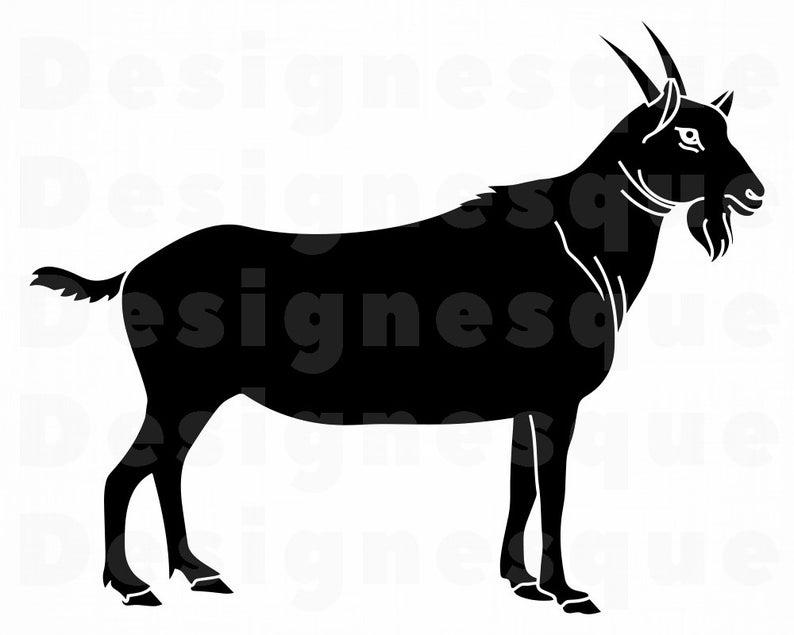Svg farm animals files. Clipart goat file