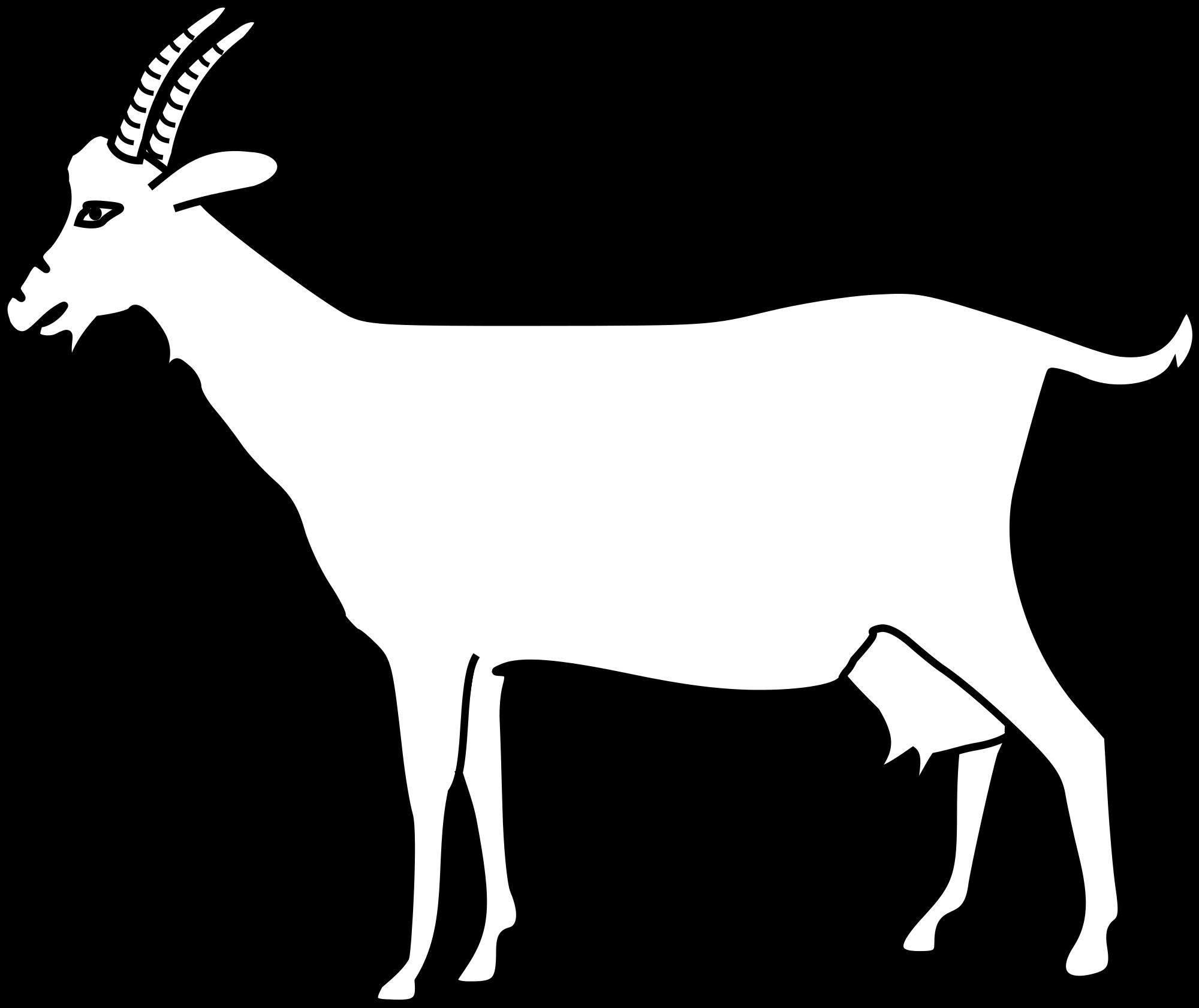 Clipart goat file. H raldique meuble ch