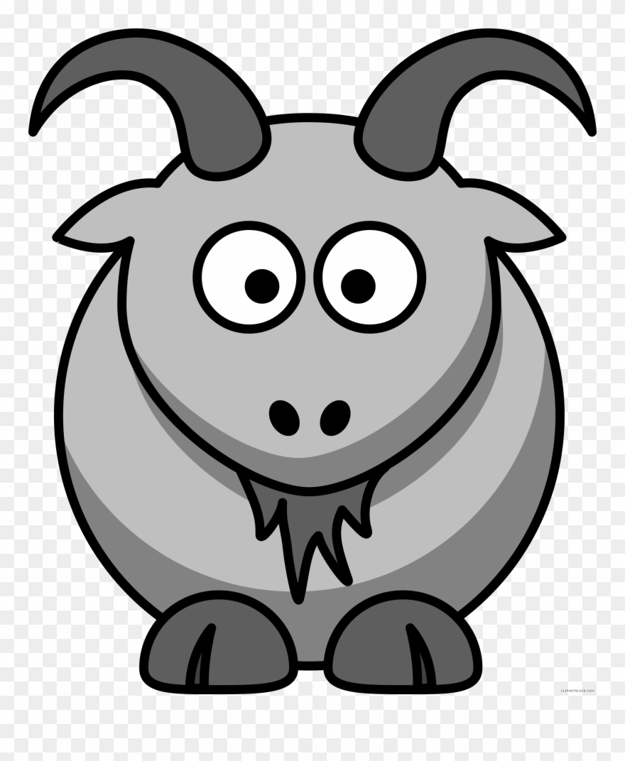 Black and white gaot. Goat clipart grey goat