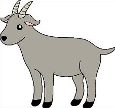 Goat clipart grey goat. Free download clip art