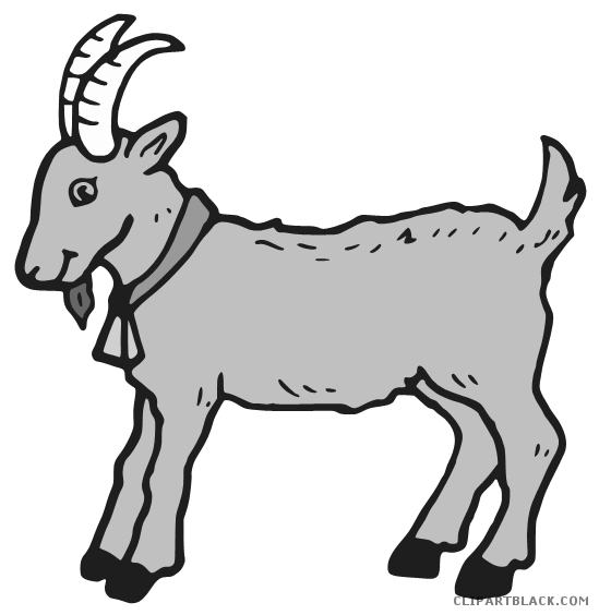 Goat clipart grey goat. Page of clipartblack com