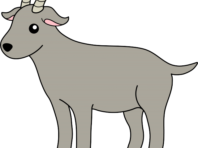 Grey object free on. Goat clipart toon