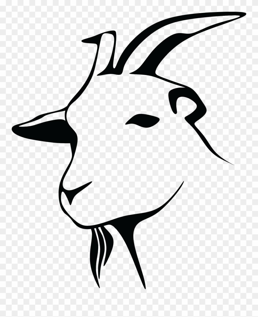 Big image clip art. Clipart goat head