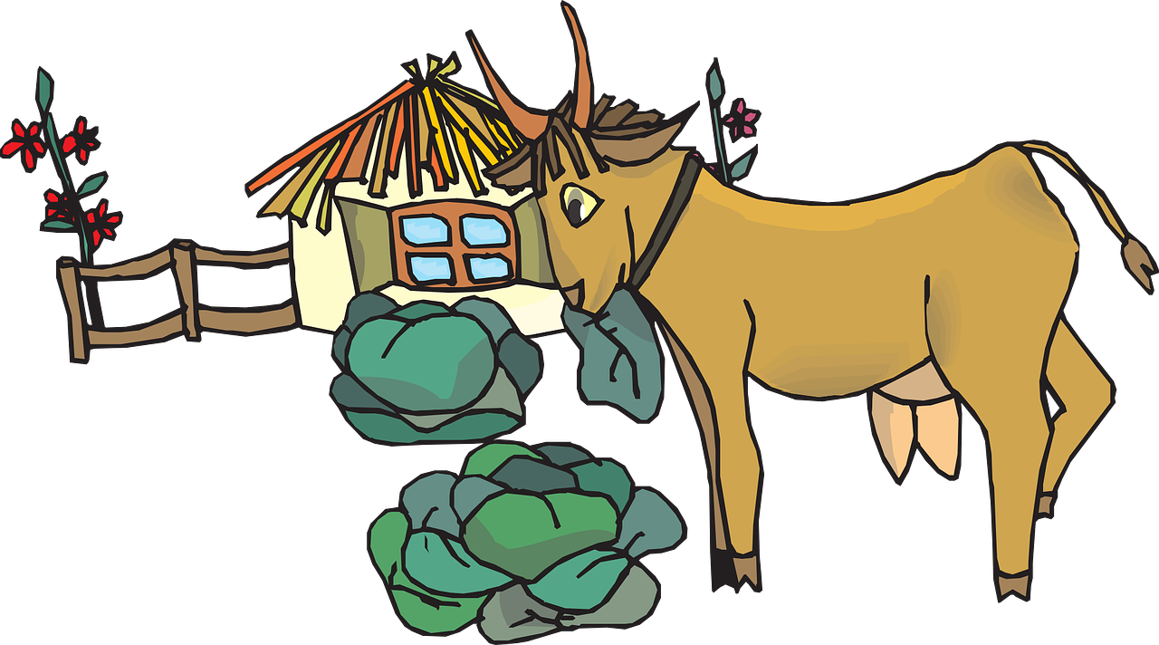 House green plants fence. Goat clipart home