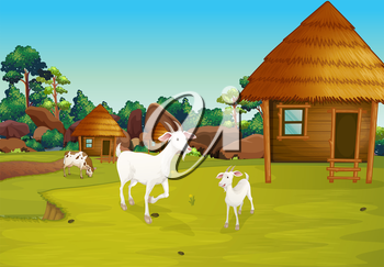 Images and royalty free. Goat clipart home
