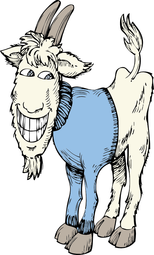 In a sweater i. Goat clipart girl goat