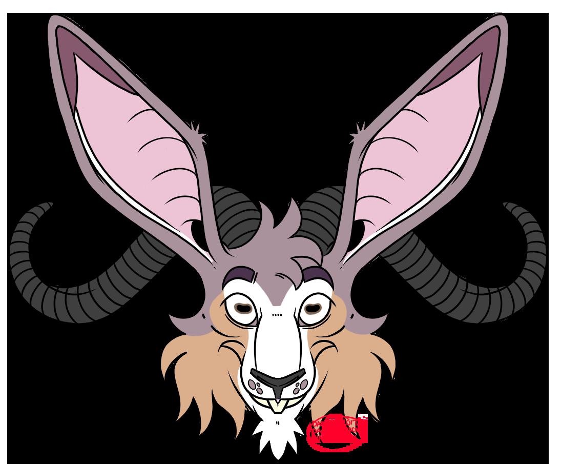 Dakota on twitter commission. Clipart goat horns
