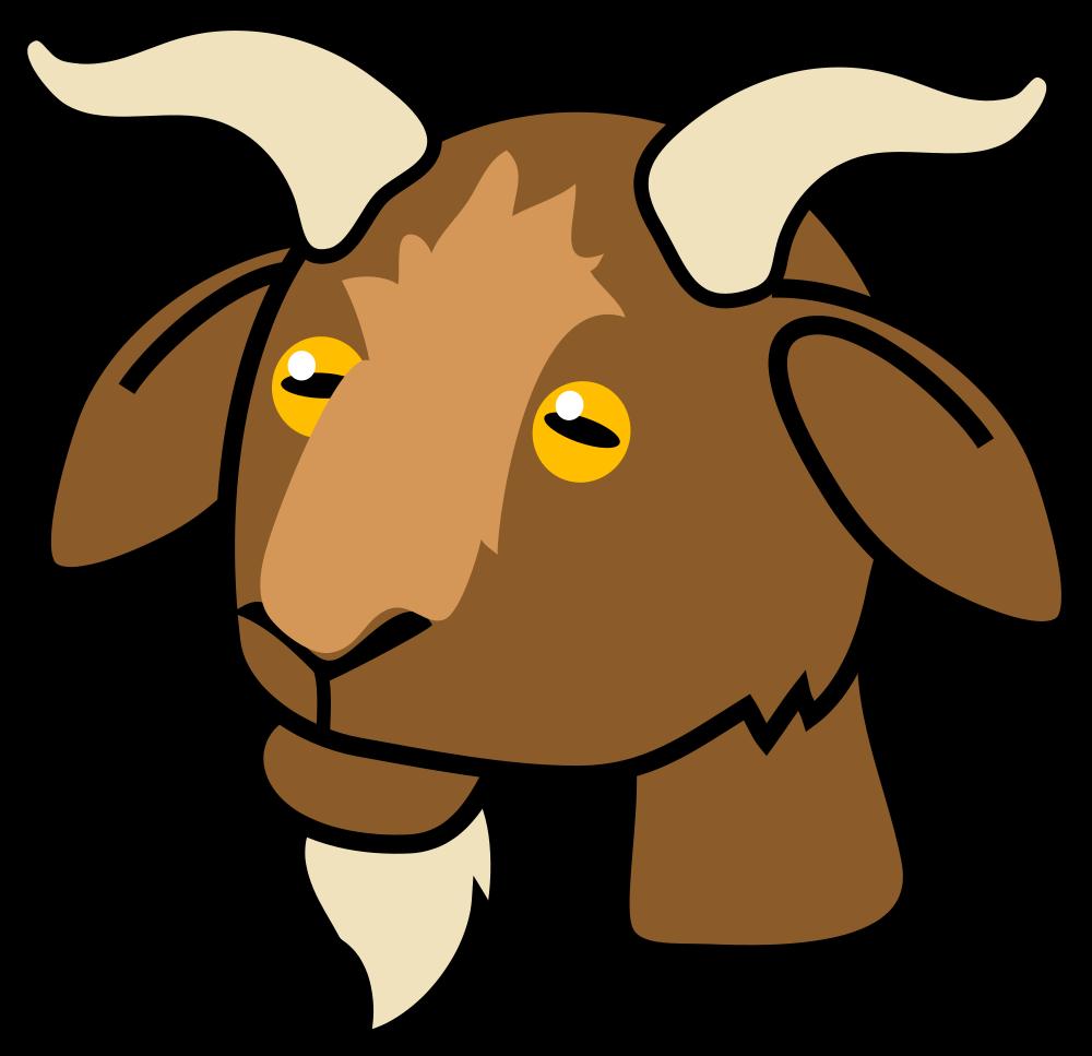 Clipart goat illustration. File icon svg wikimedia