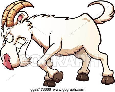 Clipart goat illustration. Eps angry vector gg