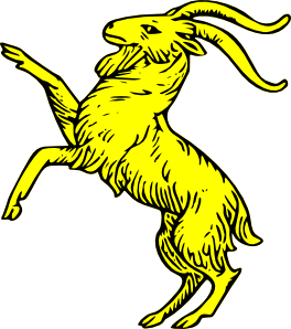 Goat clipart jumping. Rampant clip art at