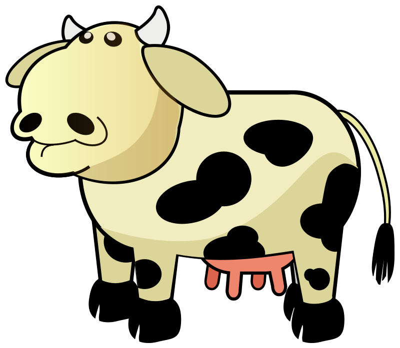Dairy clipart animated. Free cow clip art