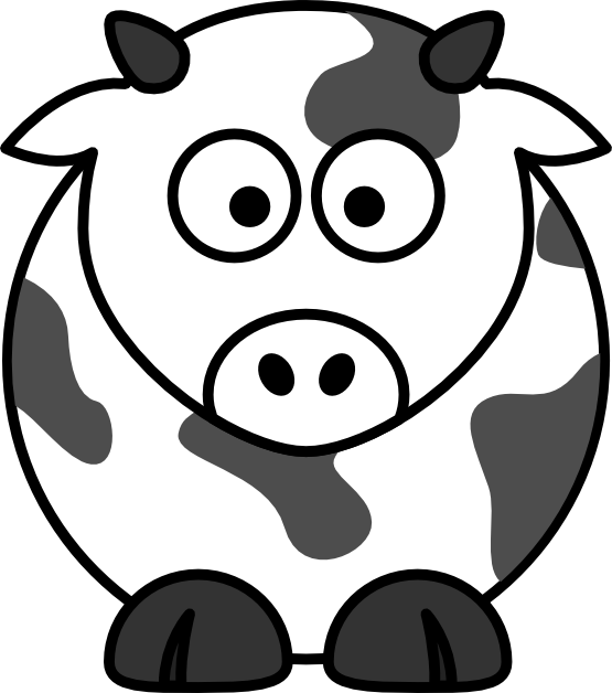 Tired clipart cow. Line art cliparts co
