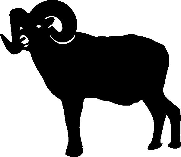 Ram silhouette clip art. Goat clipart kambing