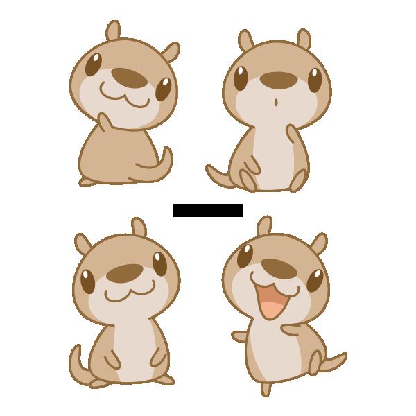 Manatee clipart kawaii. Chibi otter by daieny