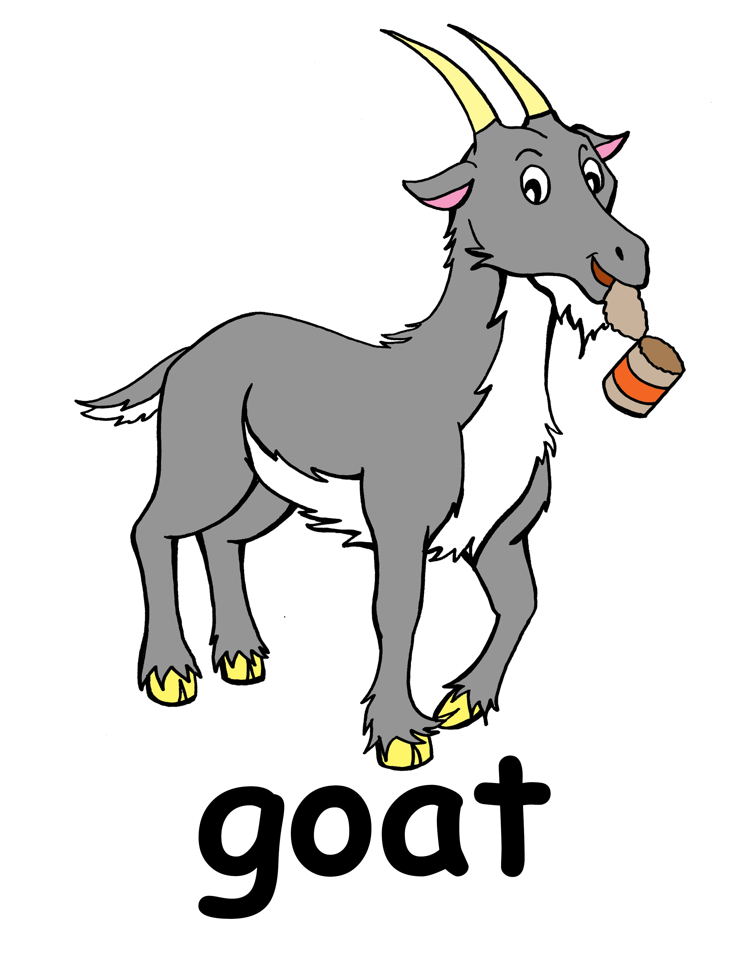 Goat clipart grey goat. Clip art baby kid