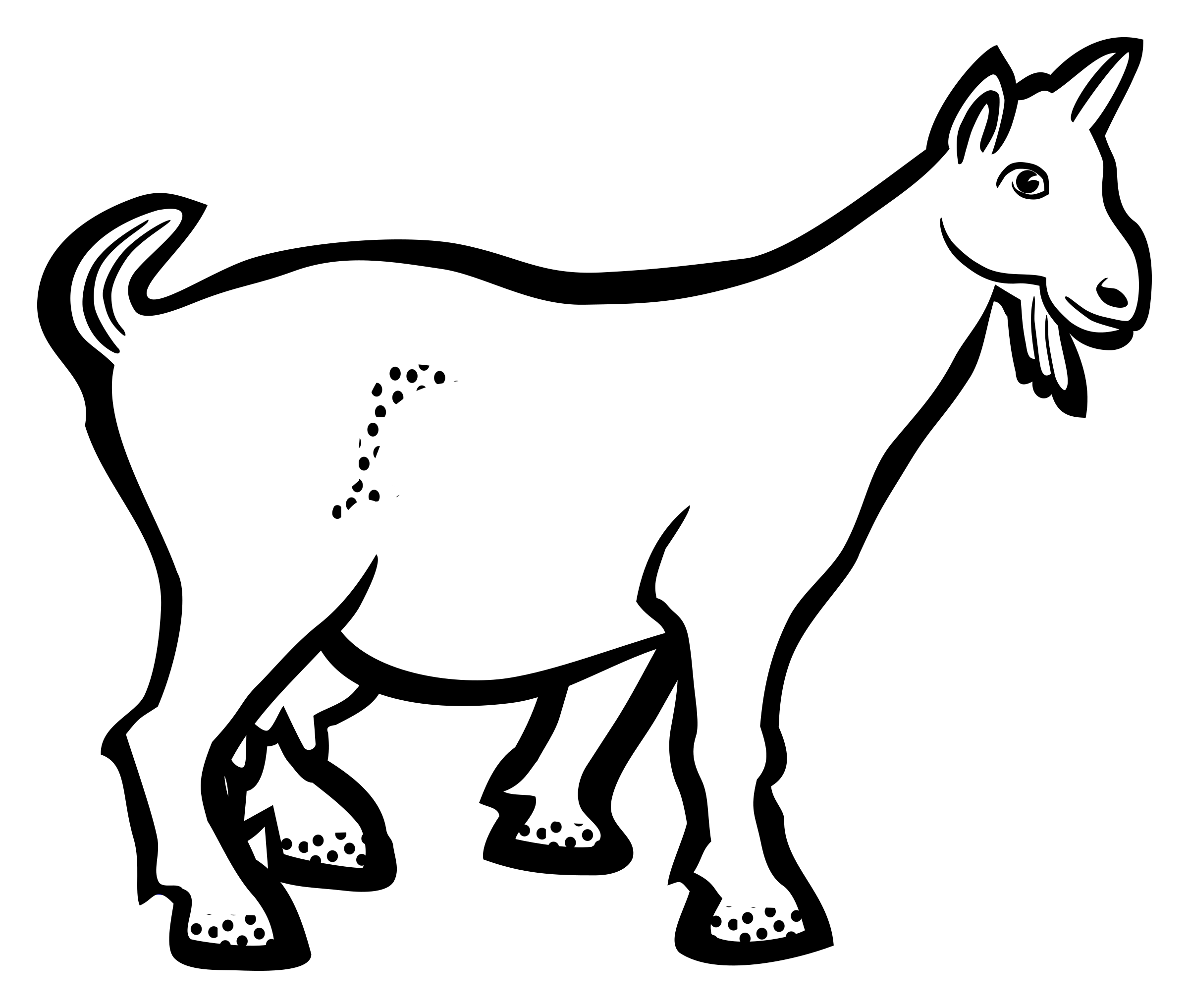 Lineart big image png. Goat clipart small goat