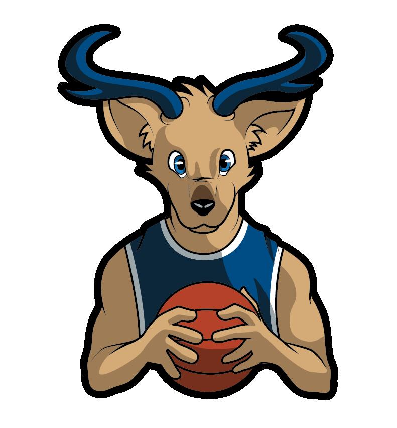 Clipart goat mascot. Louie loper design on