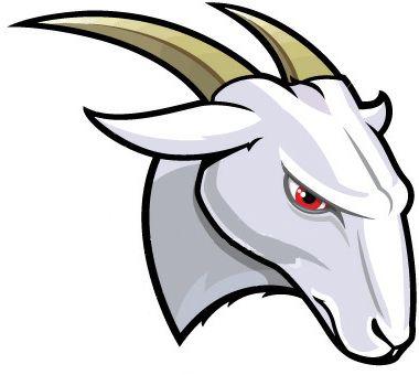 Head illustration milk logo. Clipart goat mascot