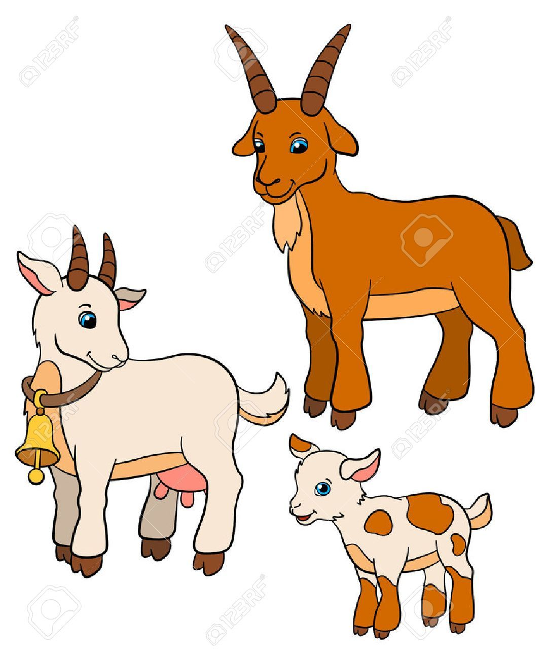 Graphics baby quilts . Goat clipart mother goat