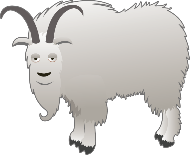 collection of mountain. Goat clipart cute anime