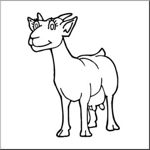 Clip art cartoon b. Goat clipart nanny goat