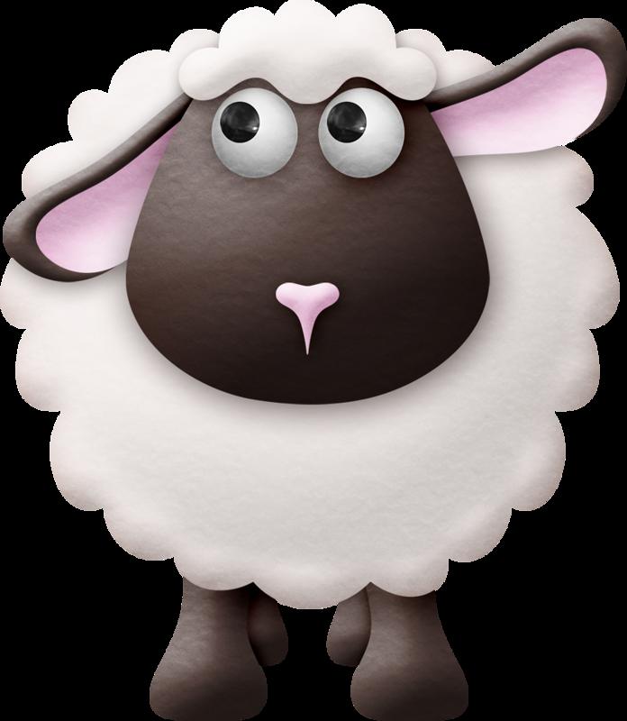 nativity clipart many sheep