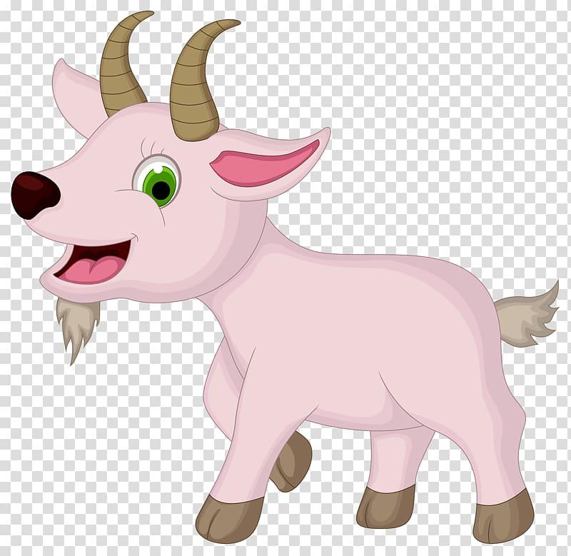 Sheep cartoon farm little. Goat clipart pink