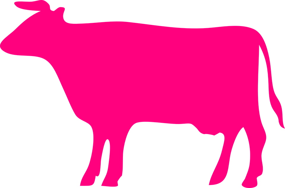 Goat clipart pink. Silhouette of cow at