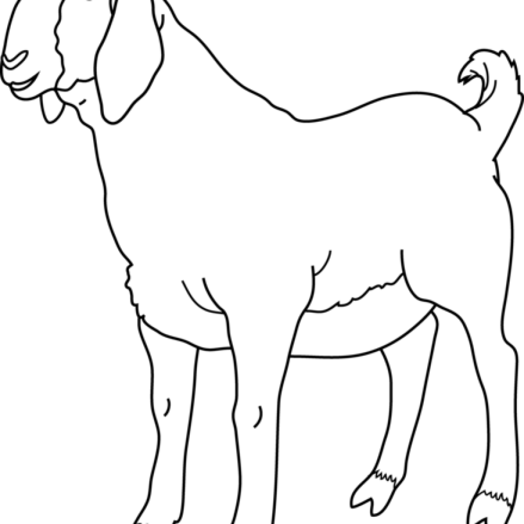 goat clipart printable
