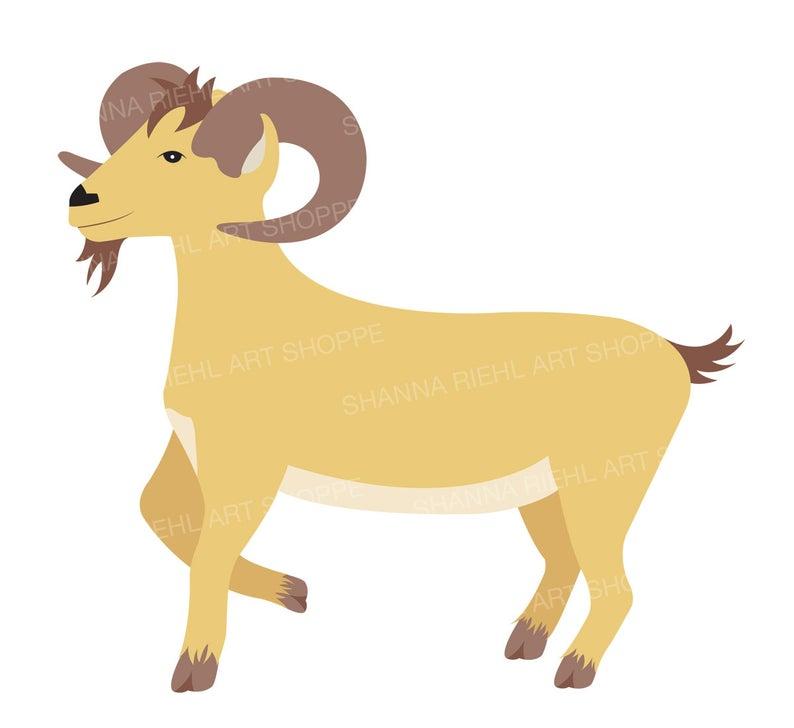 Clipart goat printable. Farm art barn life