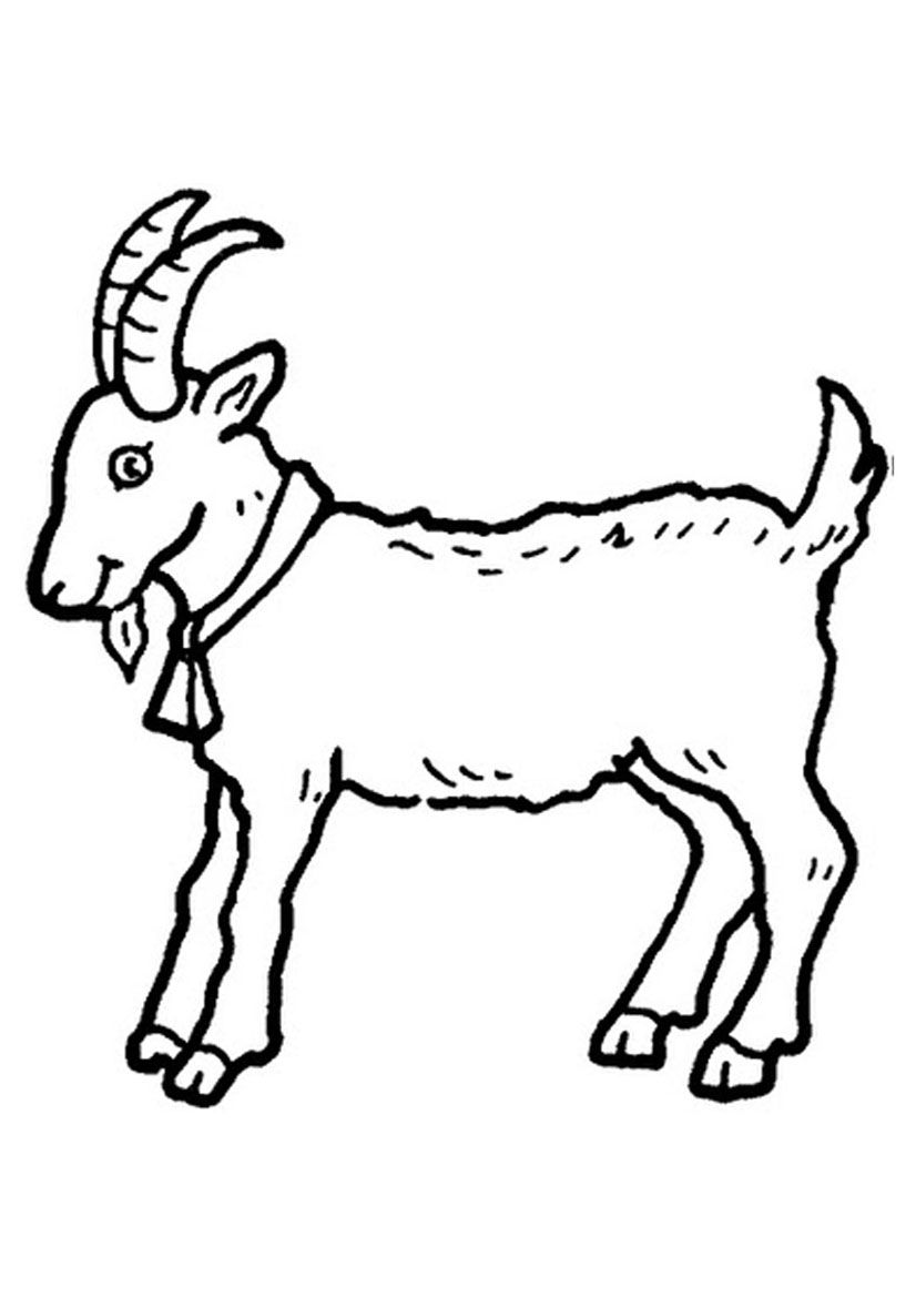 Clipart goat printable. Free pictures for children