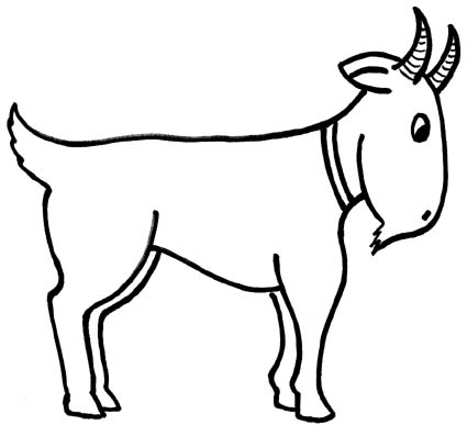 Goat clipart line art. Free pictures for children