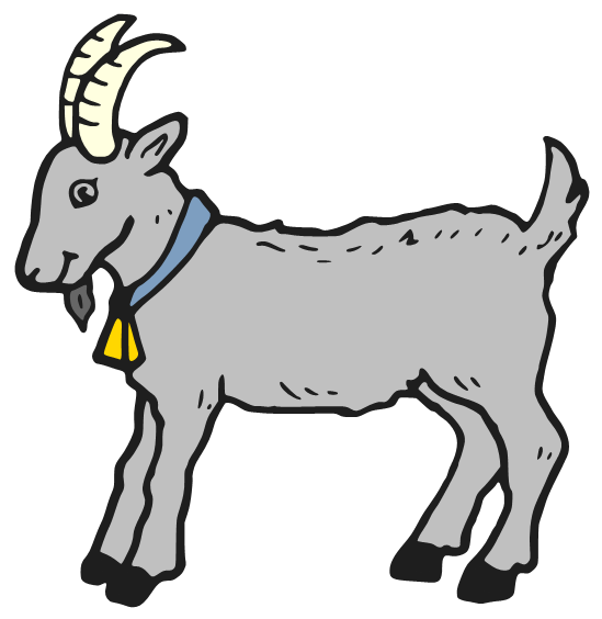Goat clipart 3 goat. Animated png transparent images
