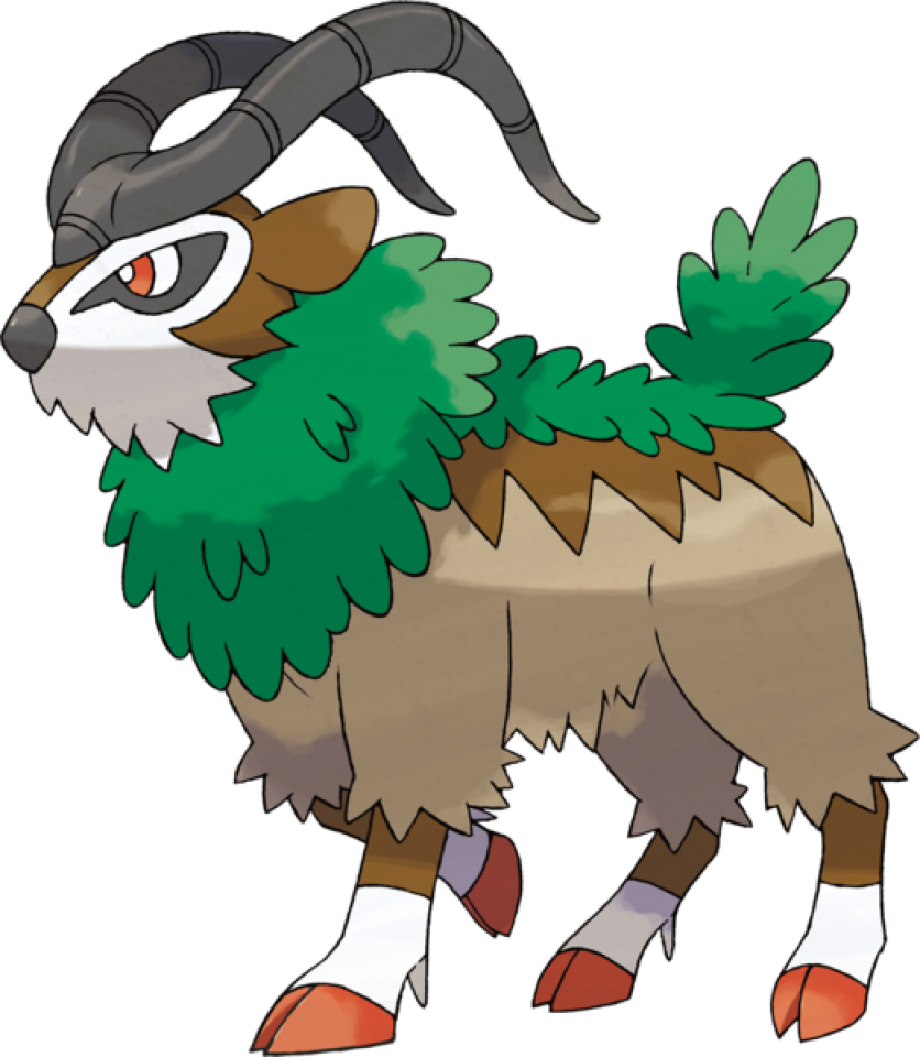 Gogoat concept giant bomb. Clipart grass goat