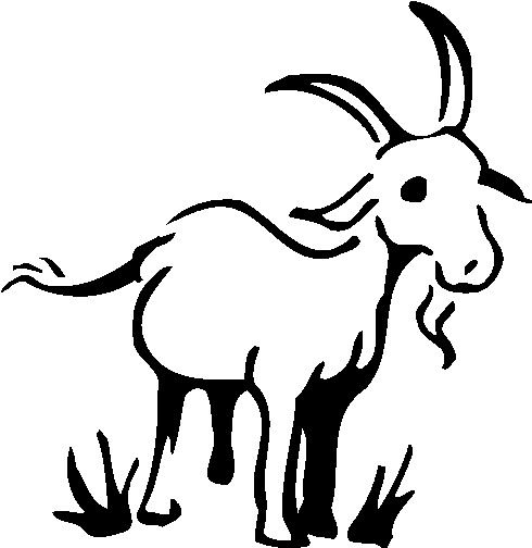 Goat clipart goat grazing. Drawing vintage free bing