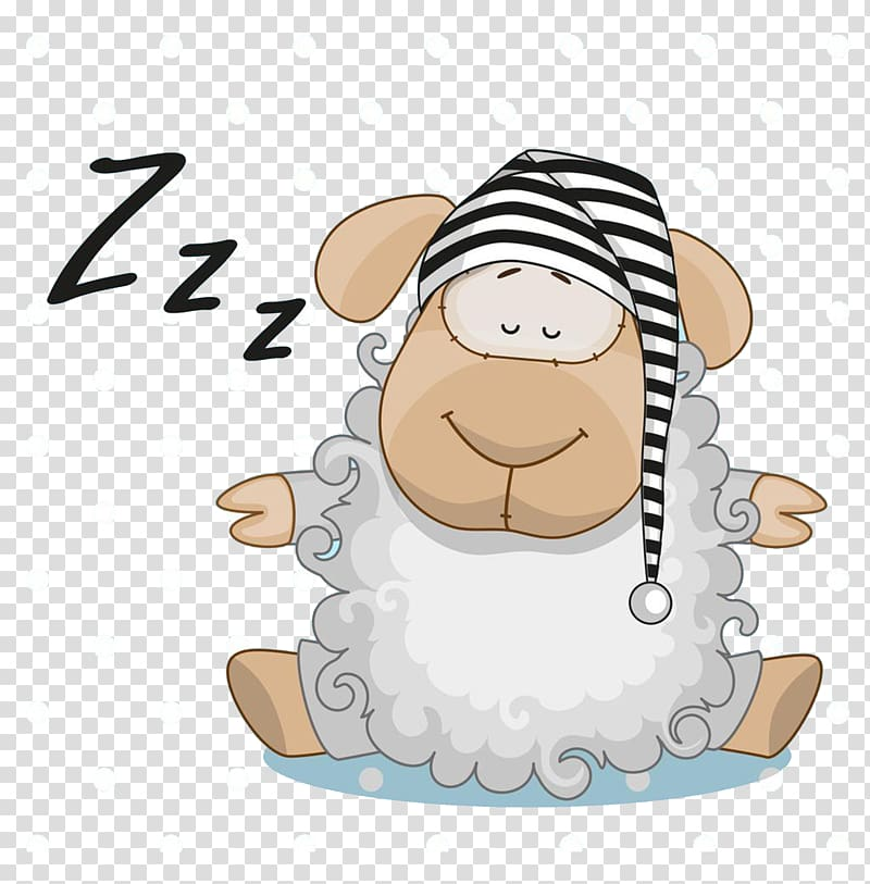 Illustration frog sleep cartoon. Clipart sheep sleeping