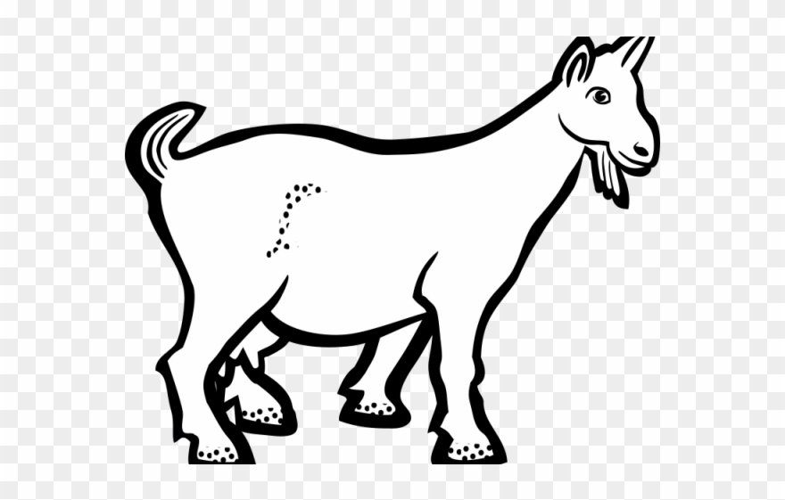 Goat clipart small goat. Clip art black and