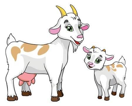 Goat clipart mother goat.  clip art