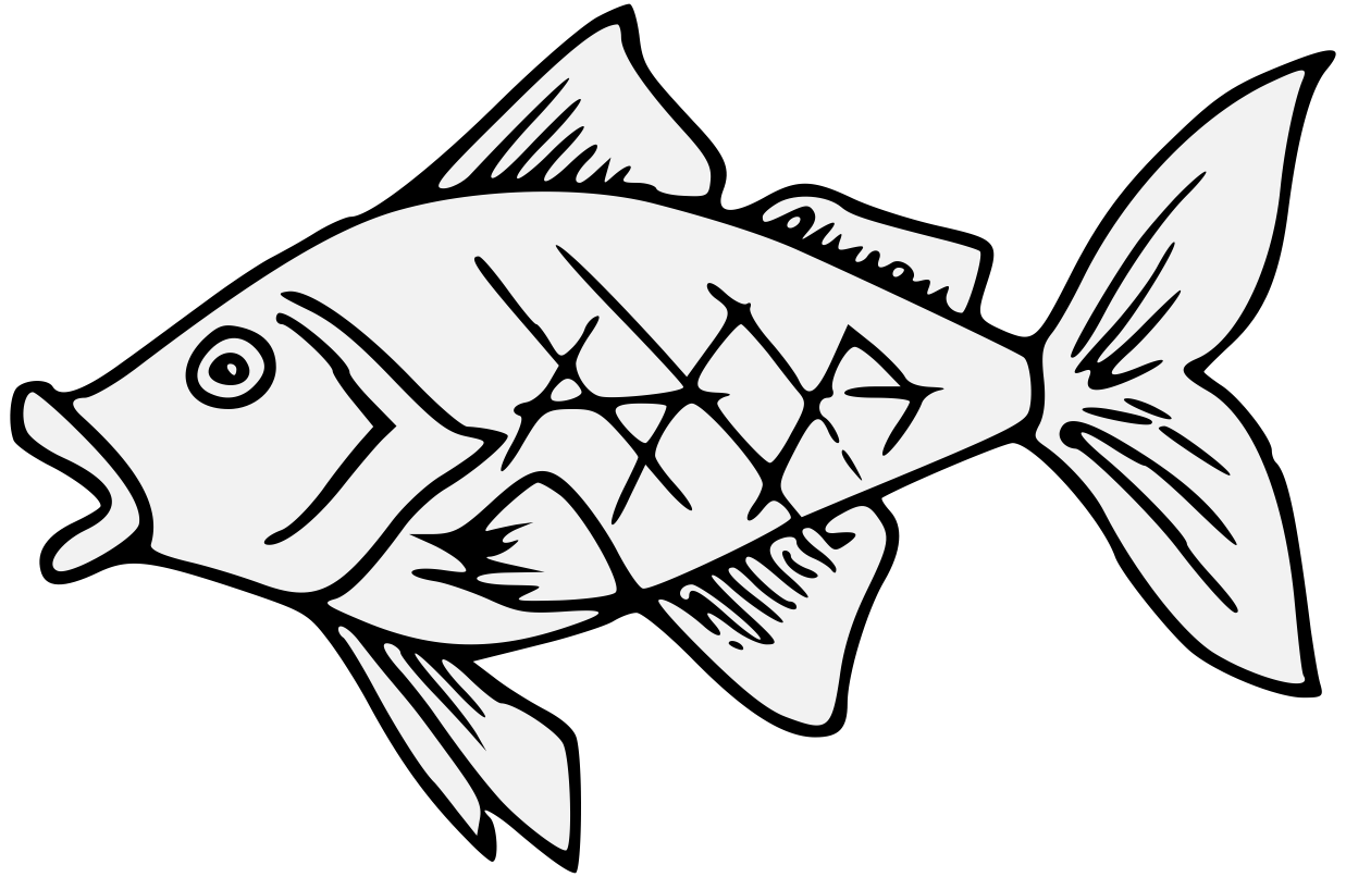 Europe clipart traceable. Goldfish heraldic art charge