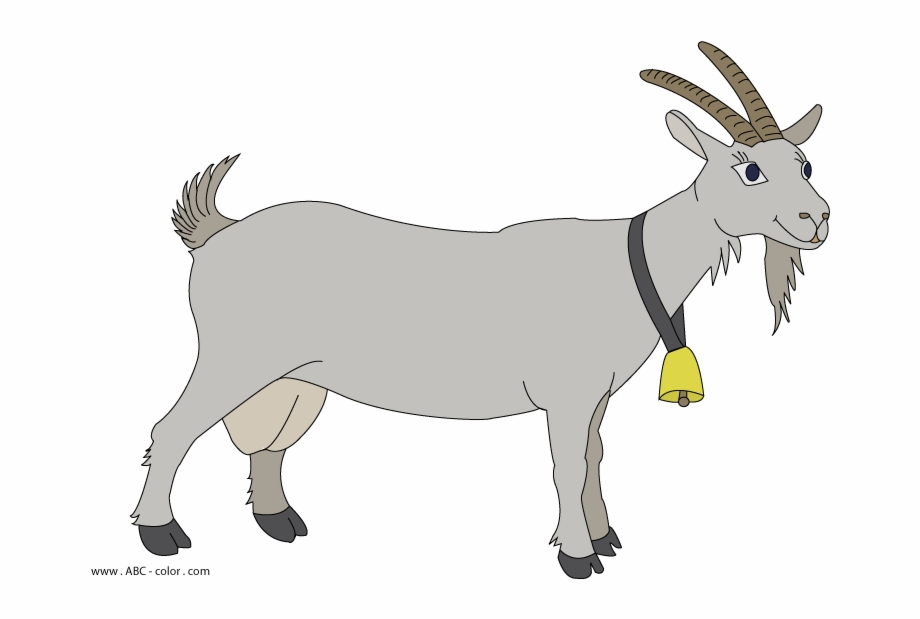 Raster picture transparent background. Goat clipart grey goat