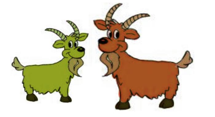 Goat clipart two goat. Cartoon sheep goats deer