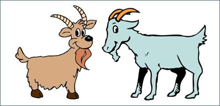 Goats vertebrate mammal animal. Goat clipart two goat