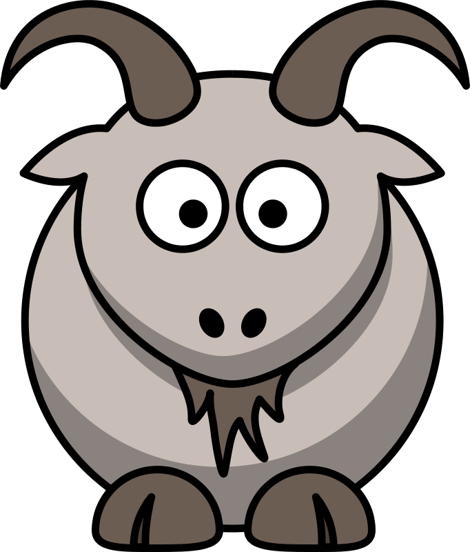 Goat clipart two goat. Free clip art cartoon