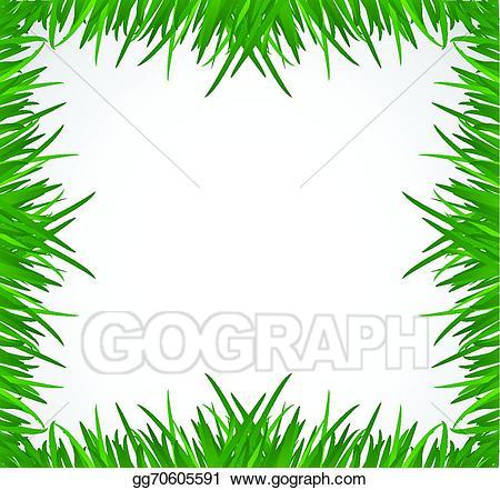 Clipart grass border design. Vector stock green illustration