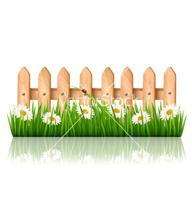 Background with a wooden. Clipart grass bulletin board