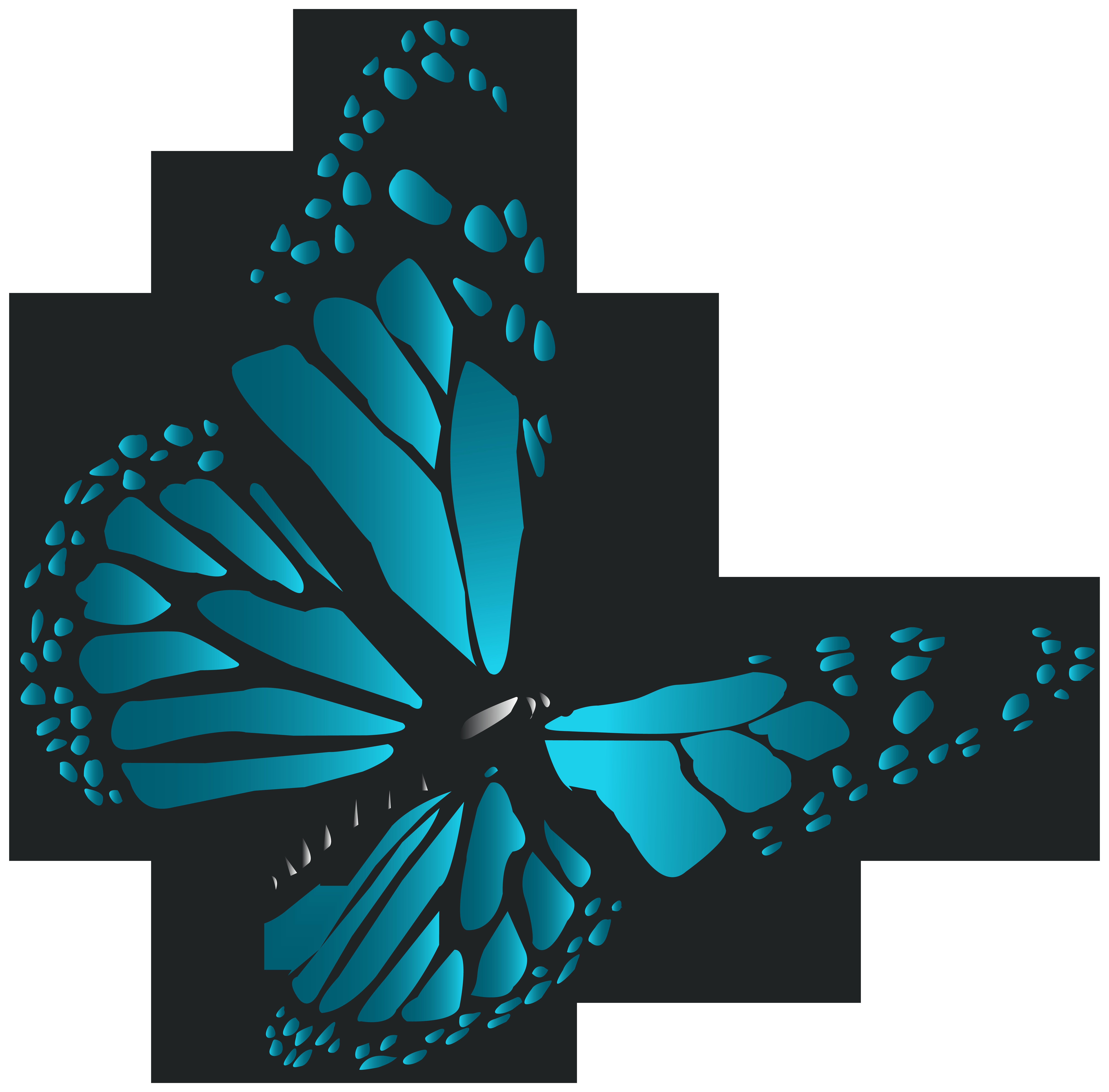 Clipart grass butterfly. Blue png clip art