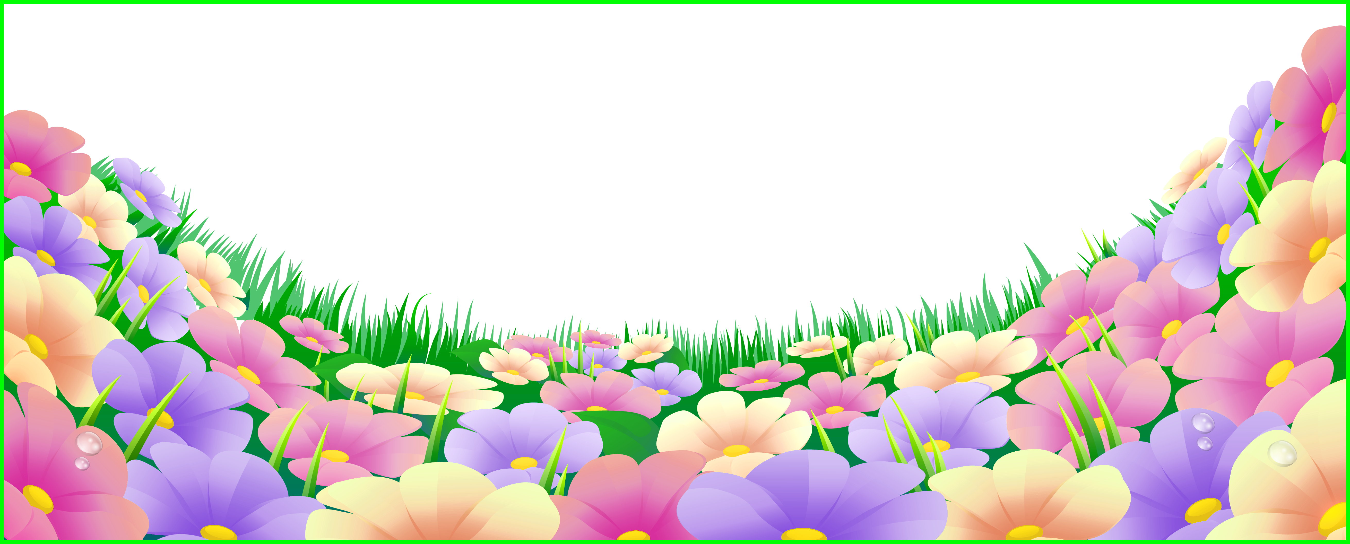 Inspiring with flowers png. Clipart grass butterfly
